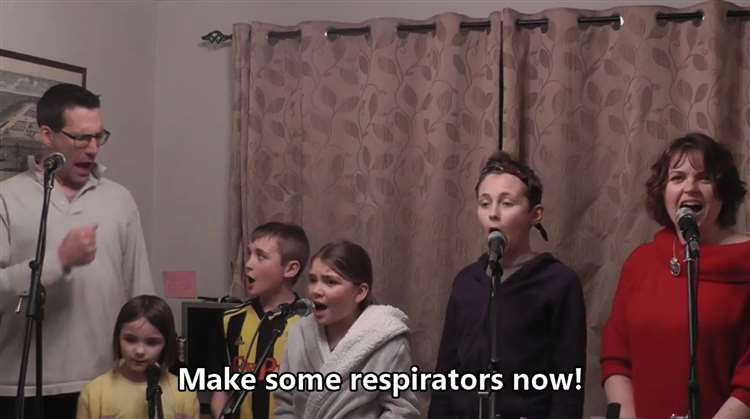 Viral relief: One family sings out its lockdown