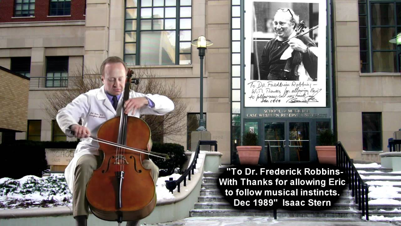 Emergency doctor in Cleveland plays cello between shifts