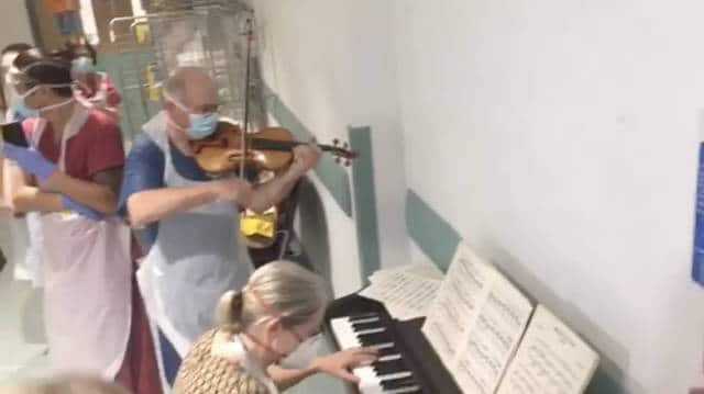 Watch: Senior doctor plays Ave Maria as Covid nurse recovers