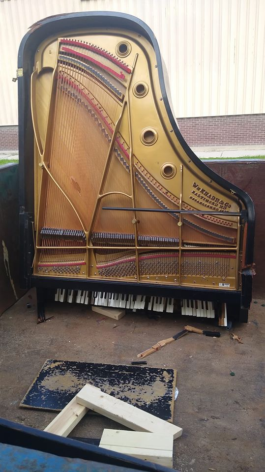 University dumps perfectly good pianos