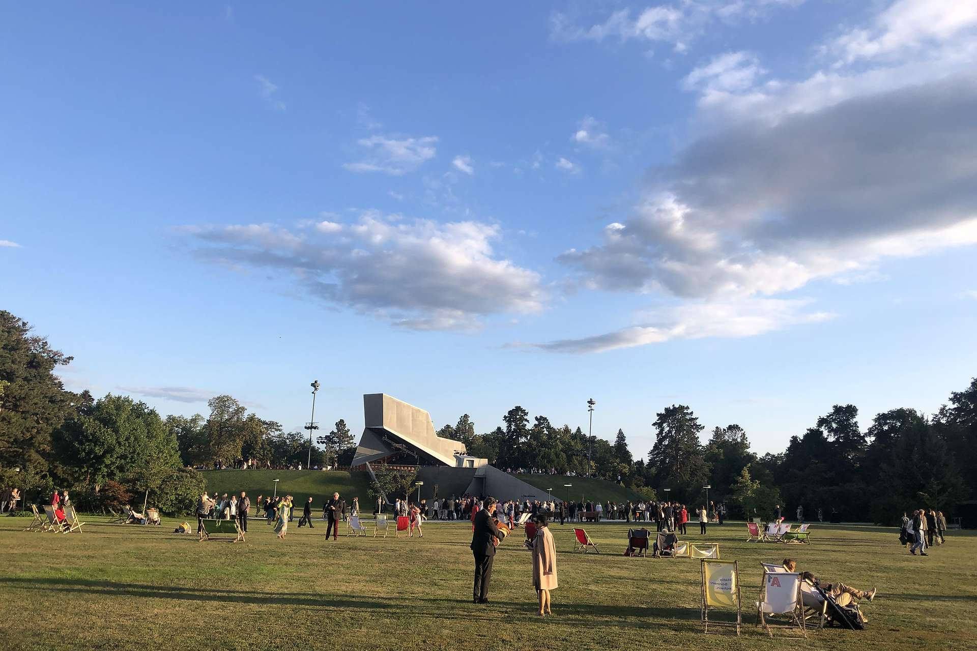 Festival is saved by making use of its park