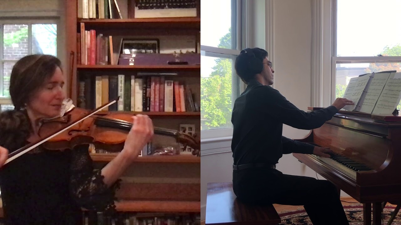 A US concertmaster plays Kaddish for the Covid dead