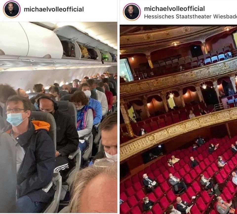 'I flew in on a full plane to sing to an empty hall'