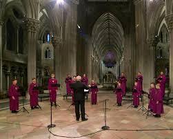 A church choir sings again – several feet apart