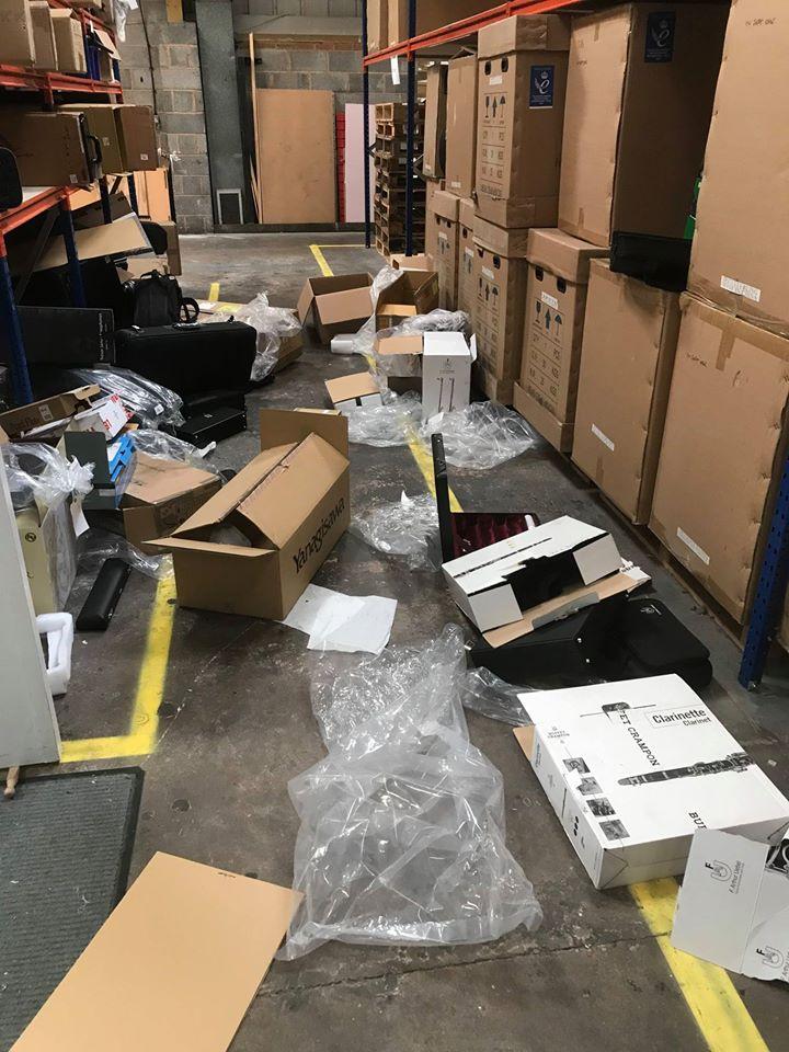 Devastating raid on UK instrument store
