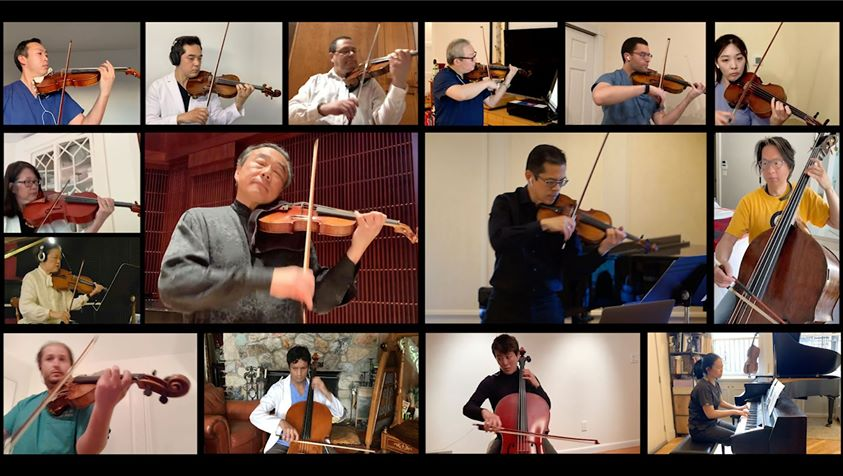 NY medics take time out to play Bach with the pros