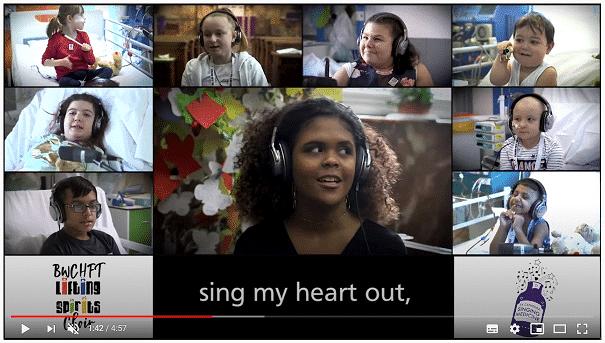 Making music with children in a heartbreak hospital