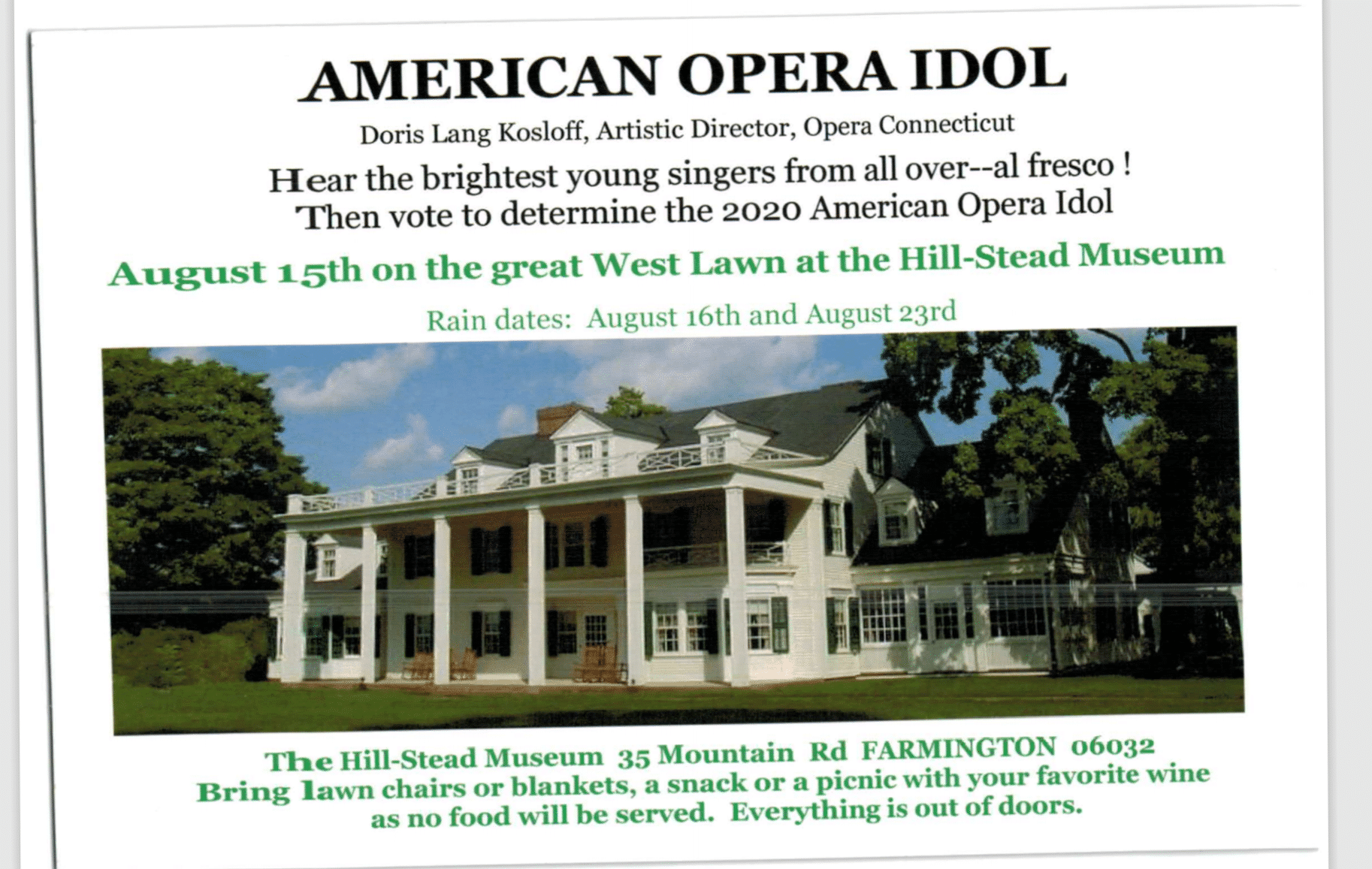 Book your deckchair for American Opera Idol