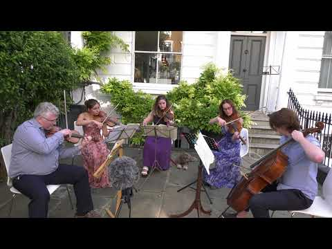 String quartet plays on London street – and no-one calls the cops