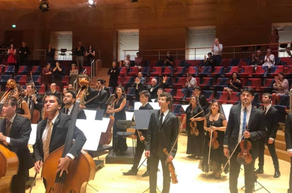 Two music directors play in Barenboim's orchestra