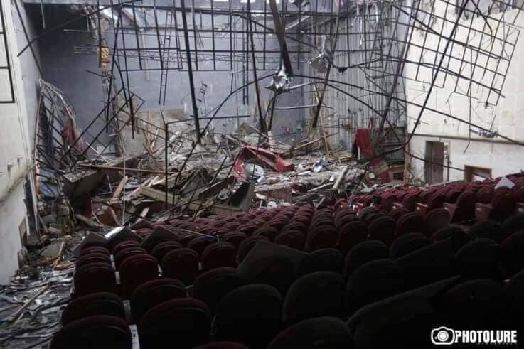 War crime: Armenian concert hall is bombed