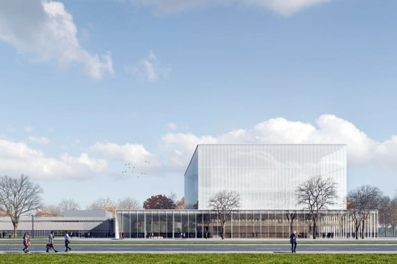 New German concert hall is put on hold