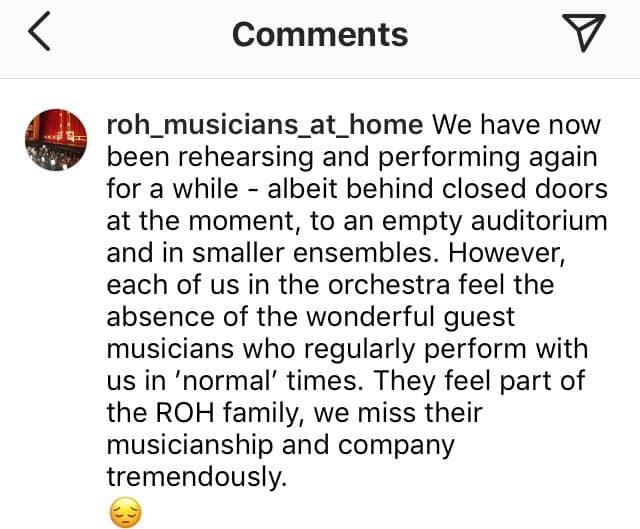 Opera musicians are missing their deputies