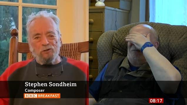 Stephen Sondheim calls in on composer with dementia