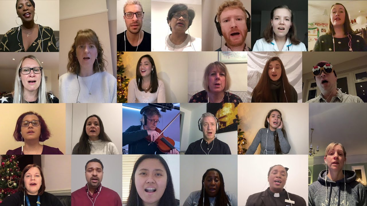 No dry eye: 100 hospital staff and patients sing out the Covid year