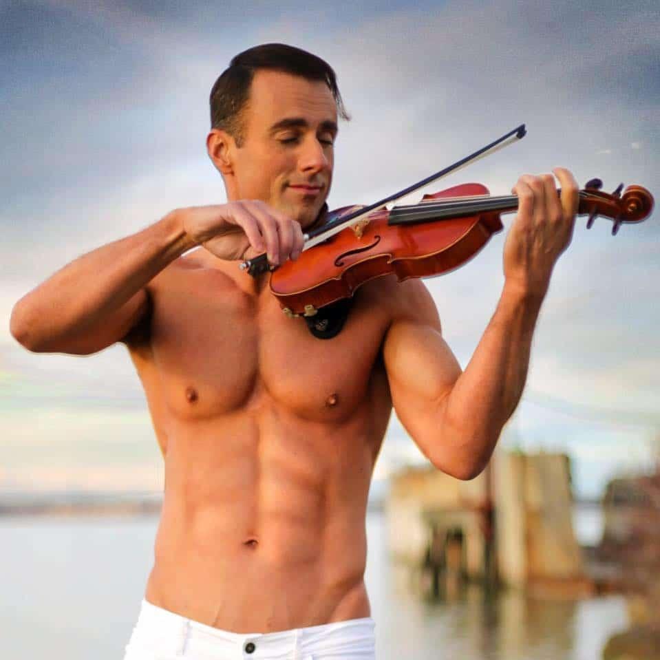 Shock news: Shirtless violinist is back on Instagram
