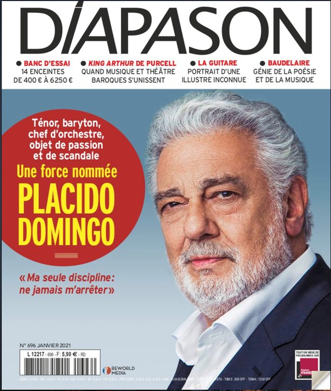 Wake up, 2021: Placido Domingo is your January cover boy