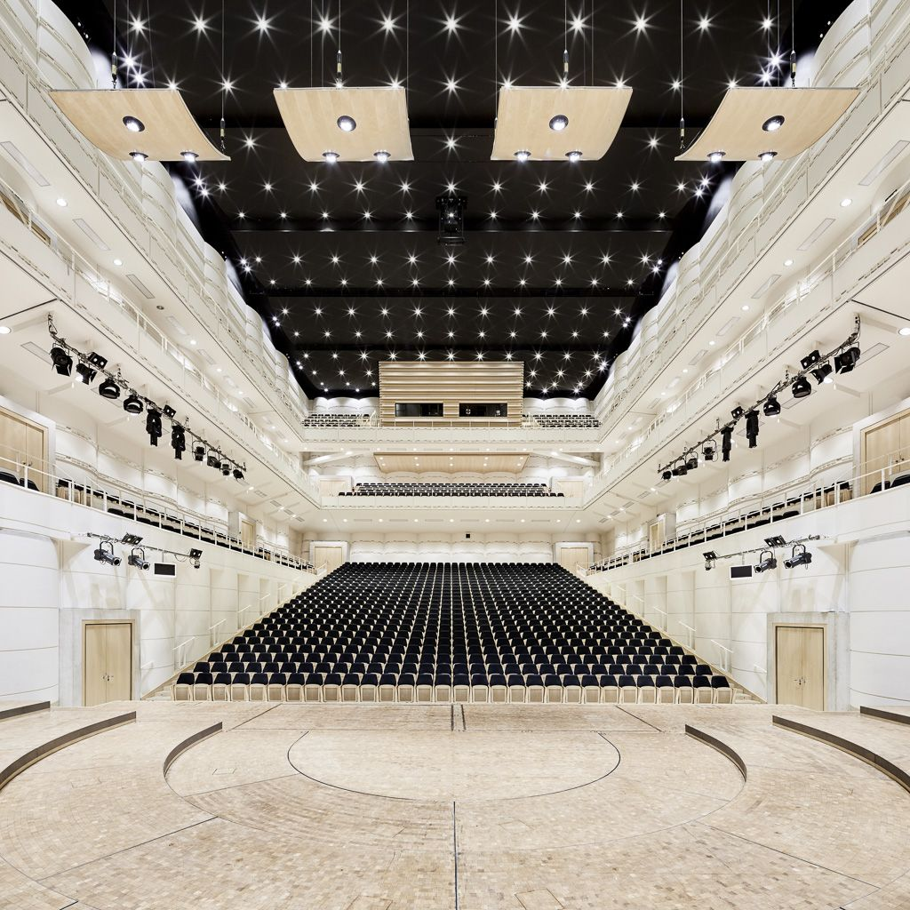A concert hall becomes a Covid test centre