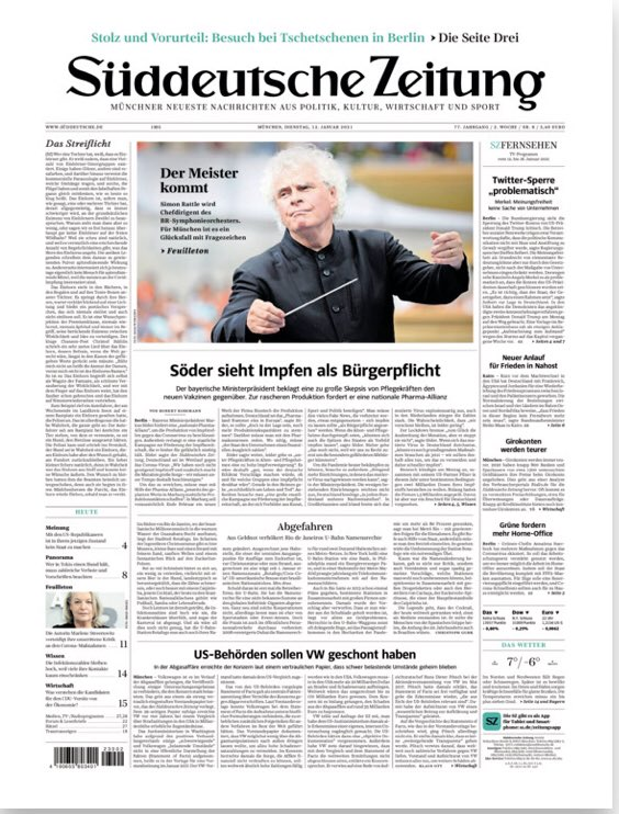 Maestro front page of the year