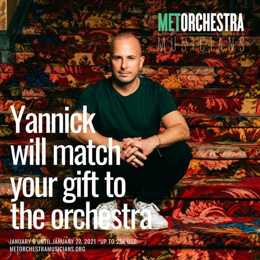 Yannick offers to match cash gifts to Met musicians