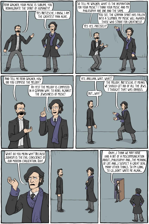 The Wagner-Nietszche dialogue gets comic