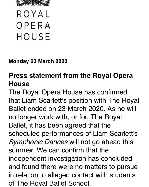 Alastair Macaulay: On not cancelling Liam Scarlett