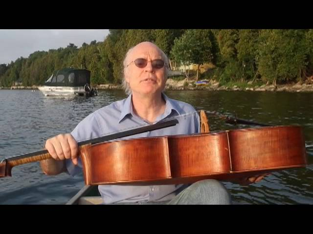 Cello professor catches fish with his endpin