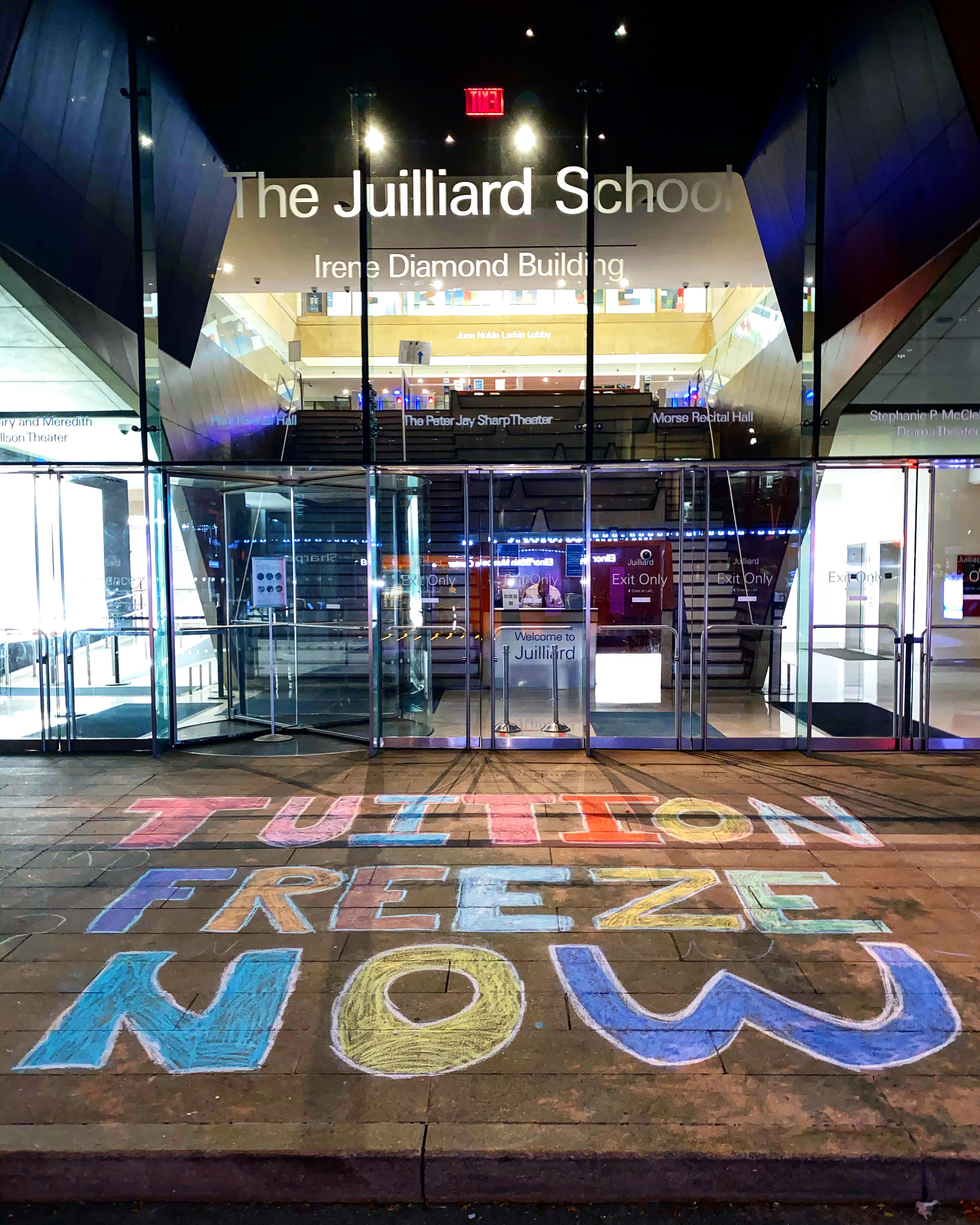Students demand fees freeze. Juilliard says no. So they are occupying the building