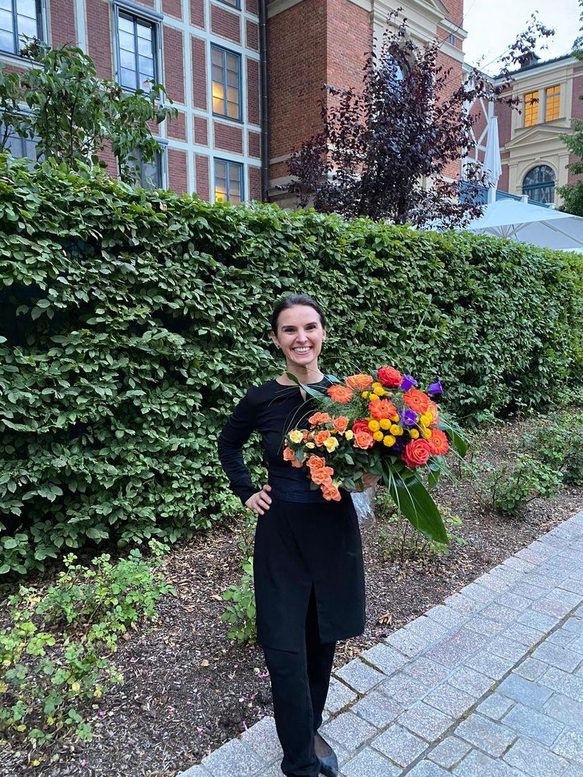 Merkel sends flowers to Bayreuth conductor