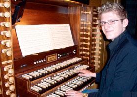 Belfast reels in Dublin's organist
