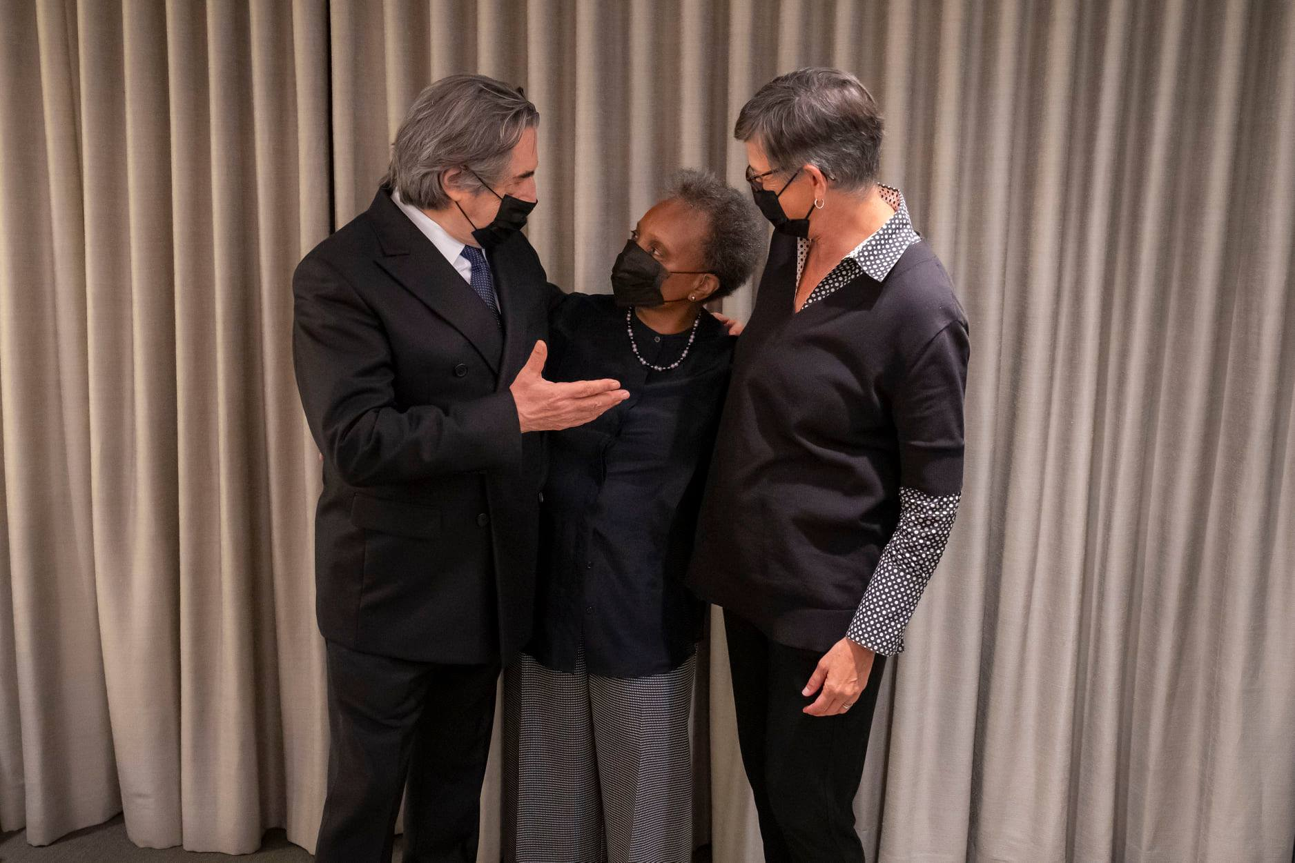 Muti meets Chicago's mayoral couple