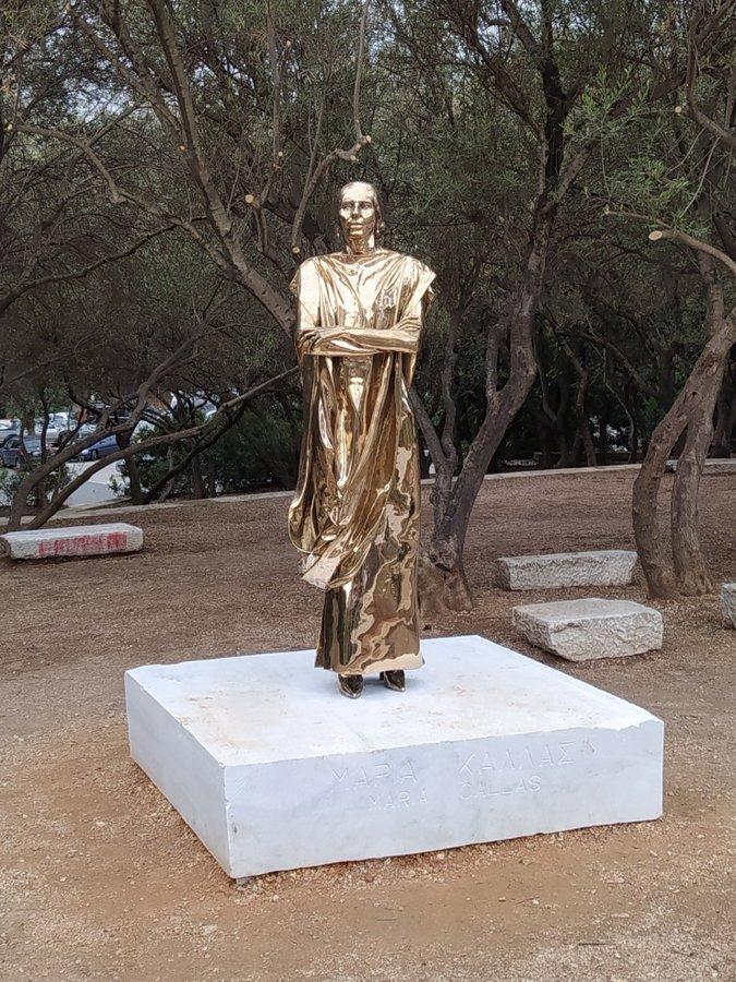 Greeks howl down horrendous Maria Callas statue